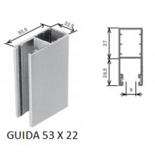 Guide per tapparelle con cassonetto esterno 53 x 22