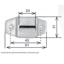 Guidacinghia in PVC verticale - Passacinghia per tapparella