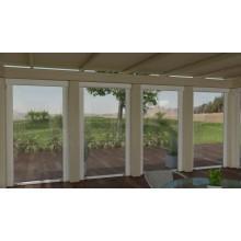 Tenda da sole a caduta con guide a veranda