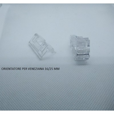 Orientatore per veneziane da 25 mm con tappo cassonetto