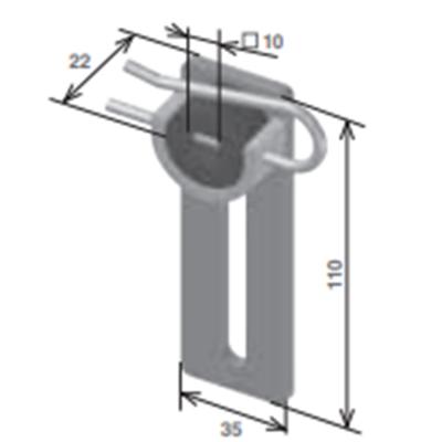 Supporto motore con regolazione verticale da avvitare al cassonetto