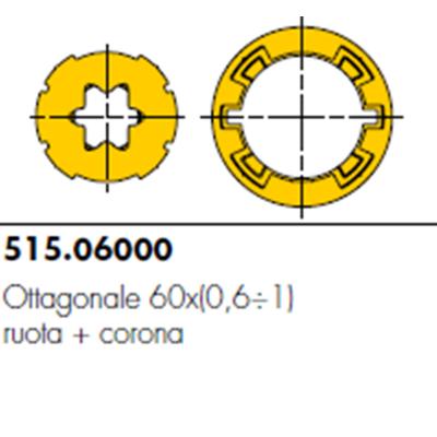 Adattatore e corona per rullo ottagonale da 70
