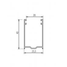 Guide in alluminio per tapparelle A40