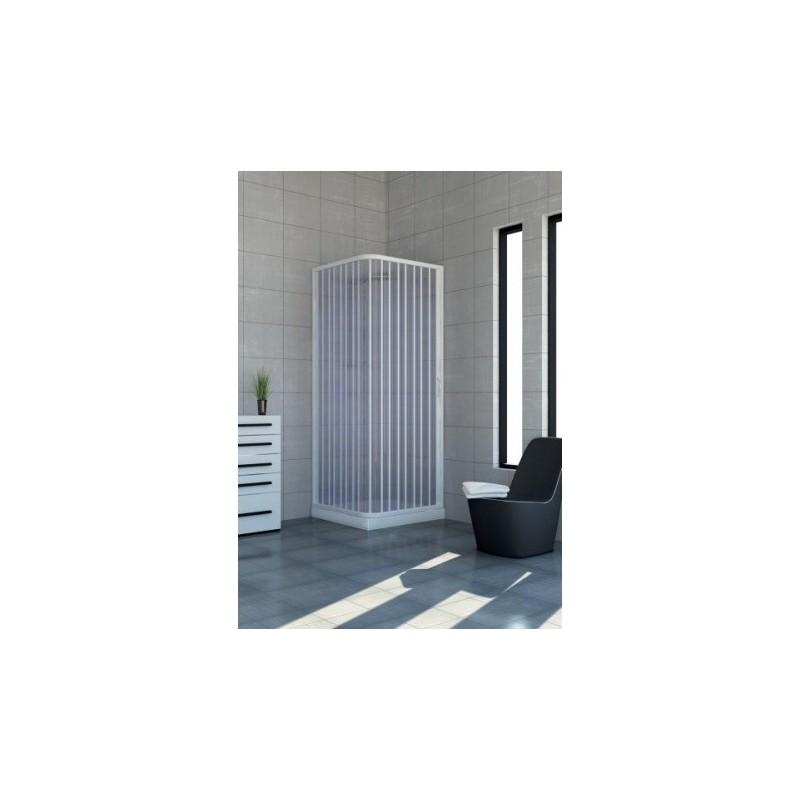Box doccia soffietto - Docce angolari Luna con apertura laterale