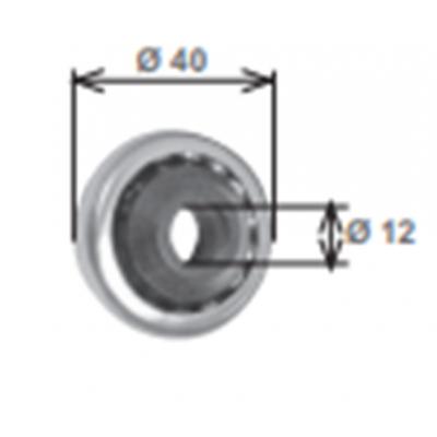 Cuscinetto diametro 42 con boccola in nylon