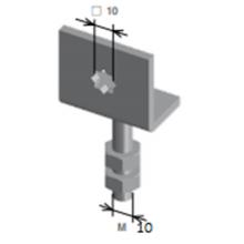 Supporto motore tapparella - Regolazione verticale