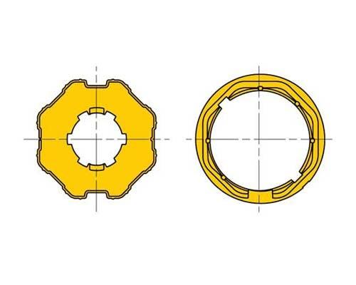 Adattatore ottagonale per tapparelle D60 ruota e corona