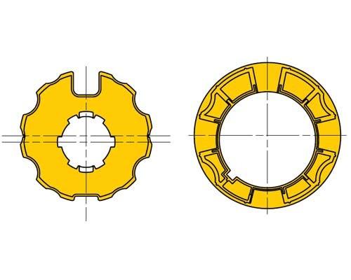Ogiva per tende da sole D70 ruota e corona