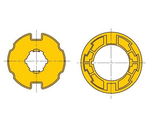 Ogiva per tende da sole D78 ruota e corona