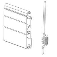 Terminale in alluminio con catenacci