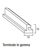 Terminale in gomma