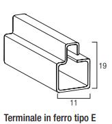 Terminale in ferro zincato