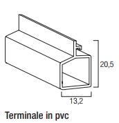 Terminale in PVC mignon